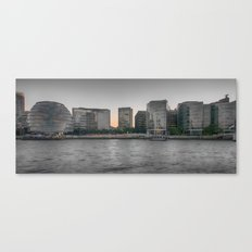A view From The River Thames London Canvas Print