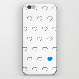 Hearts - Blue iPhone Skin