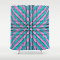 miami Shower Curtains featuring Miami Hitlist by Conundrum Arts