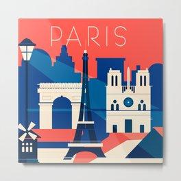 Abstract Paris Metal Print