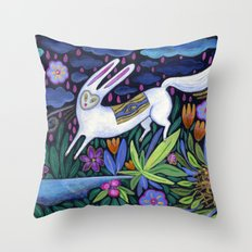 Frolic in the Forest Throw Pillow