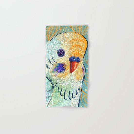 Minty Parakeet Hand & Bath Towel