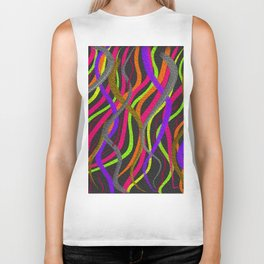 Electric Squiggles Biker Tank