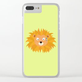 Sweating lion head T-Shirt for all Ages D3qq6 Clear iPhone Case