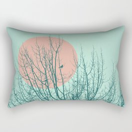 Birds and tree silhouette 2 Rectangular Pillow