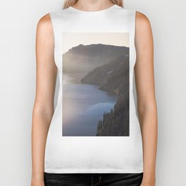 First Light at the Lake - Nature Photography Biker Tank