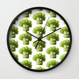 Funny Broccoli Pattern Wall Clock