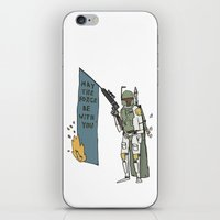 boba iPhone & iPod Skins featuring Boba by Lewis Farrow