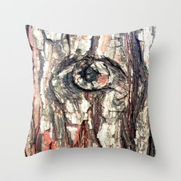 The Trees Are Watching Throw Pillow