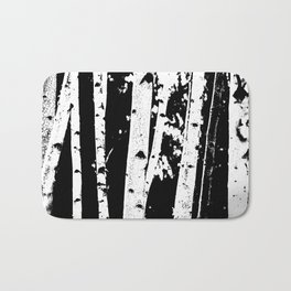 Black and White Birch Trees Fade Out Bath Mat