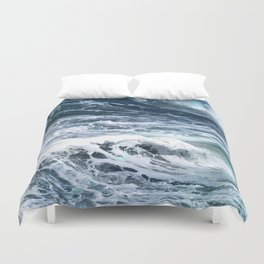 Blue Sea Ocean Waves Duvet Cover