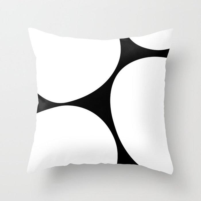 Big Dots White Throw Pillow