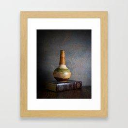 Vase and Book Framed Art Print