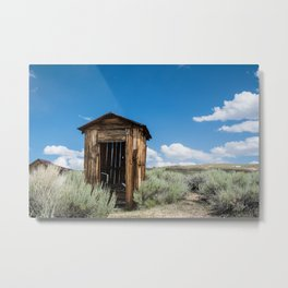 Lone Outhouse Metal Print