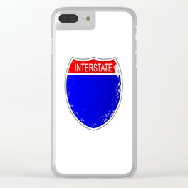 Interstate Sign Isolated Clear iPhone Case