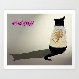 drive movie cat Art Print