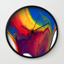 Paint Pouring 18 Wall Clock