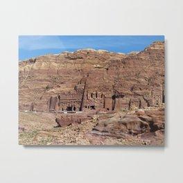 Ancient Nabataean Desert City of Petra Ruins Metal Print