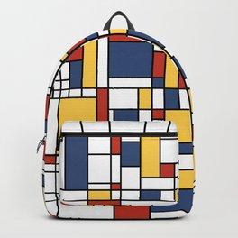 Mondrian De Stijl Pattern Backpack