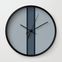 Blue Bisecting Blue Wall Clock
