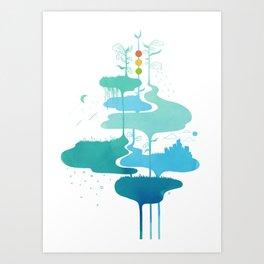 Weather Veins Art Print