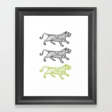 Three Tigers Framed Art Print