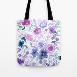 Watercolor Wildflower Meadow Floral Print Tote Bag