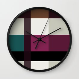 Chocolate Fudge and Berries Wall Clock