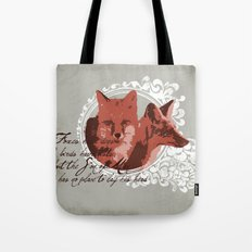 Foxes Have Dens Tote Bag