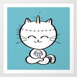 Lily Unicorn Kitty Art Print