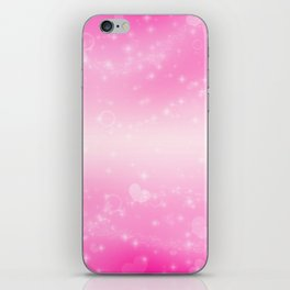Magic deep pink heart patterned iPhone Skin