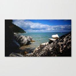 Rocks Lakeside Paradise Canvas Print