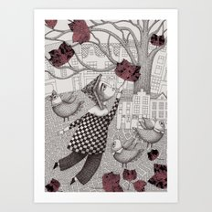 Autumn Flight Art Print
