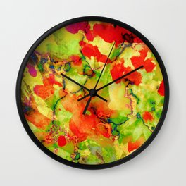 floral and textures Wall Clock