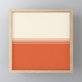 Marmalade & Crème Gradient Framed Mini Art Print