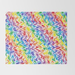 A Messy Rainbow   Throw Blanket