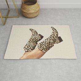 These Boots - Leopard Print Rug