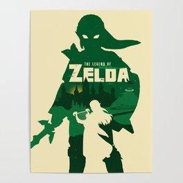 The legend of Zelda minimalist art Poster