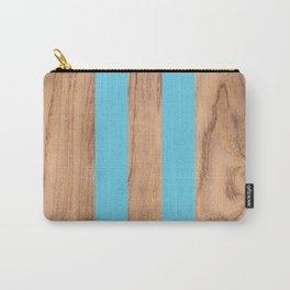 Wood Grain Stripes Light Blue #807 Carry-All Pouch
