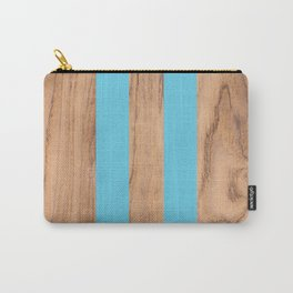 Striped Wood Grain Design - Light Blue #807 Carry-All Pouch