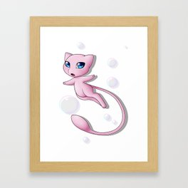 Mew Bubbles V2 Framed Art Print