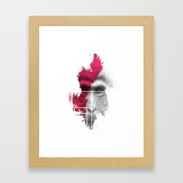 Power Monkey Mask Framed Art Print