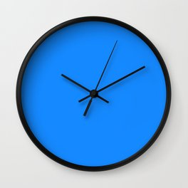 Solid Bright Dodger Blue Color Wall Clock