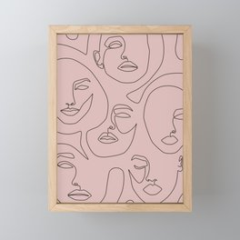 Blush Faces Framed Mini Art Print