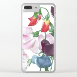 HIGHEST QUALITY botanical poster of Sweet Pea Clear iPhone Case