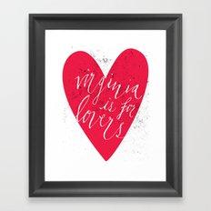 Virginia is for Lovers Framed Art Print