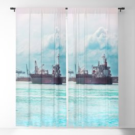 Big Ship on the Mississippi Blackout Curtain