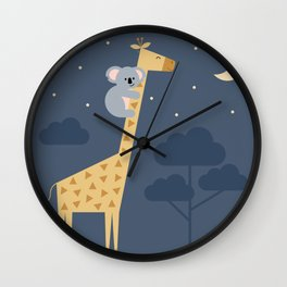 Reach for the stars, don't be afraid to ask for help Wall Clock