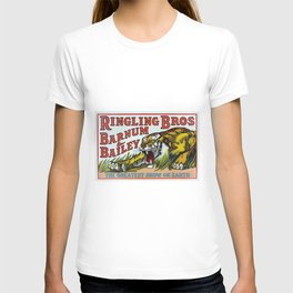 1938 Ringling Brothers and Barnum & Bailey Circus Tiger Act - Greatest Show on Earth Circus Poster T-shirt