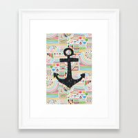 anchor Framed Art Prints featuring Anchor by Berreca